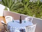 Your own private balcony with table and chairs