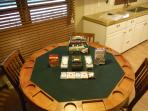 Poker table and games