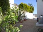 Side View of Villa & fruit trees