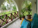 Balcony of the masters bedroom with splendid view on the Indian Ocean.