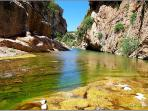 At about 5 kilometers from Villa Playa the Warm River flows and there are thermal springs.