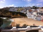 Carvoeiro beach, recently awarded a Blue Flag clean beach and water award