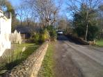 the country lane outside the front of your house
