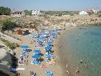 Beautiful secluded beach coves with crystal clear waters - walking distance (less 5 mins)