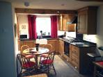 Kitchen diner- Full range of appliances - washer dryer- utensils etc.