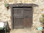 The old woodstore door!