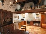 fully equipped traditional kitchen