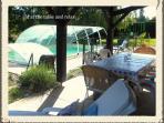 private gite with private pool.