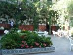 An amazing local restaurant courtyard