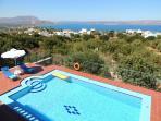 Villa Maria pool and bay view.