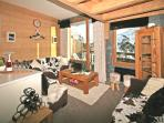 A four bedroom, four bathroom beautiful chalet with private sauna and jacuzzi