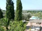 with sweeping views across the beautiful Vallee D'Itria