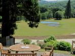Fisherman`s Flat has its own sitting-out area, commanding superb views over Holne Chase and the coun