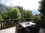 Terrace with Mont Blanc views
