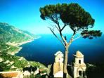 Amalfi coast, from only 120 km from Scauri
