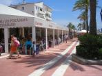 Lively beach restaurants