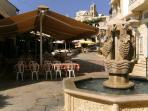 Pissouri Village square - 10 minutes walk