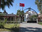 Entrance to Akdeniz Evleri where Villa Yilmaz is located - a car free zone