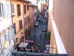 trastevere seems a ' small village' from house's balcony