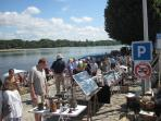 Antique market in Montsoreau along the loire - second Sunday of every month