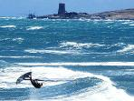 Wind surf competition at Spiaggia Lunga, Vieste