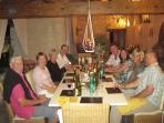 All our cottage guests enjoying a lively evening at Manoir de Gourin