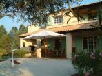 villa front terrace