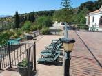 one of the sunbathing terraces