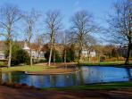 The Pavilion Gardens lake - 5 minutes walk away