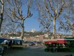 Marché sur les quais de Saône
