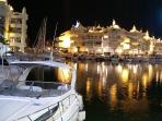 Puerto Marina with many bars and restaurants , twenty minutes walking from the apartment.