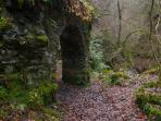 The grotto in Reeling Glen - look out for fairies!
