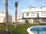 Front terrace ideal for Mediterranean sunrise.  Its the end TownHouse, with views to the South.