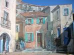 Trompe l'Oeil painted wall, the sky is real!