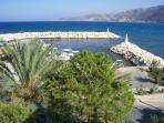 Beautiful Pomos Harbour, taken from the restaurant