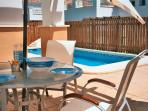 Alfresco dining beside your Private Pool