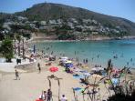 The Pretty El Portet Beach is Walking Distance & is a nice Alternative to Moraira's Main Beach