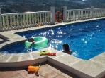 Splash into the child friendly pool at Casa Eve
