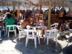 Bustling Beach Bars in high season