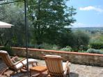 View from the private terrace in front of the cottage