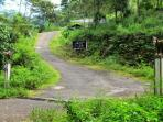 Entrance to 'Mahaweli Frills' subdivision (house is 500 meters up the winding road)