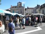 Thursday local market in Astier