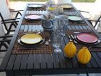 external dinning table