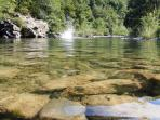 Around Borgo Val di Taro .... swimming and sunbathing in the water of streams and rivers ...