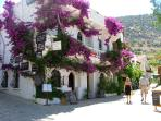 A short stroll to the flower covered balconies and cobbled streets of Kalkan old town