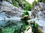 Have both at Can Cruanyes for cooling down - The pool or the nearby rock pools