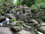 Becky Falls on Dartmoor is accessible as part of a day's walk from Mill Barn