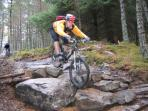 Mountain biking from the house from gentle trails to extreme riding at Wolftrax - 25 minutes away