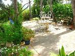 Outdoor tables and picnic area