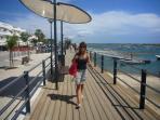 new promenade at Cabanas